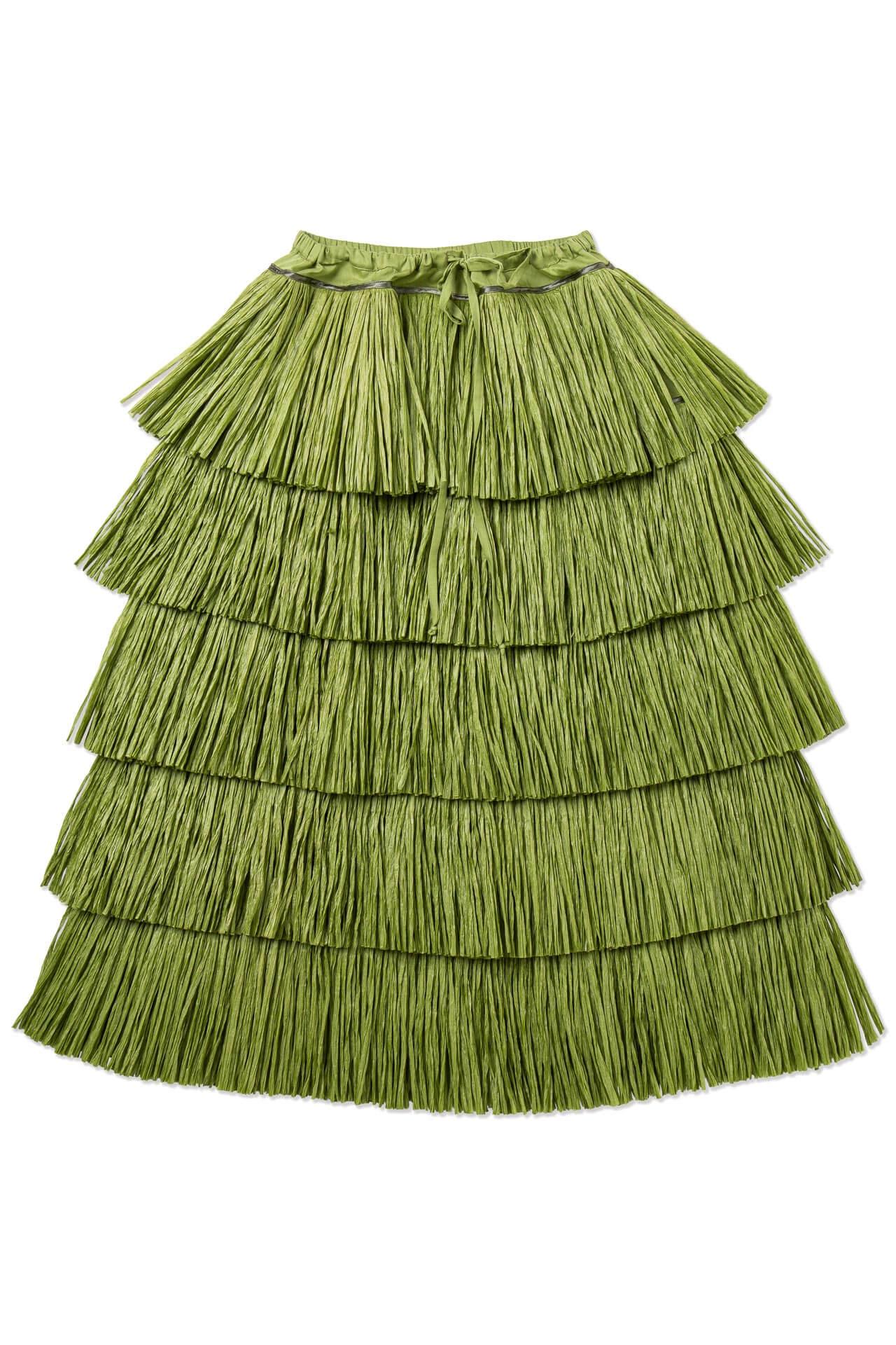 Long Raffia Skirt